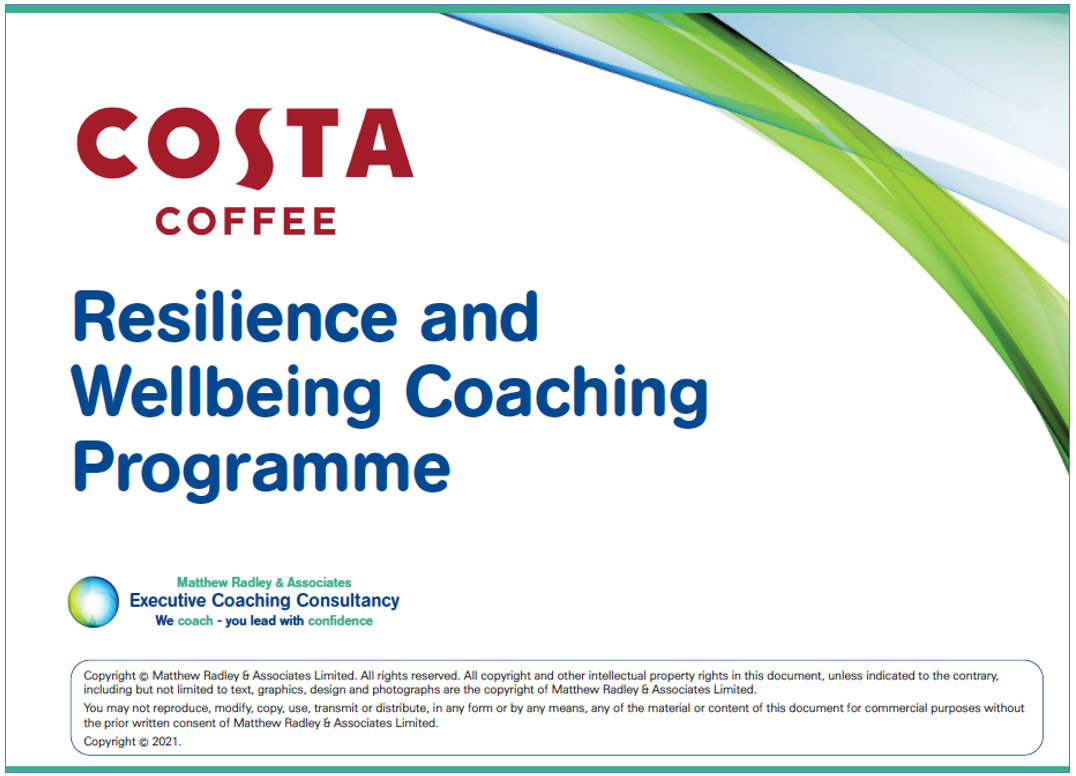 Costa Coffee - Resilience and Wellbeing Coaching Programme